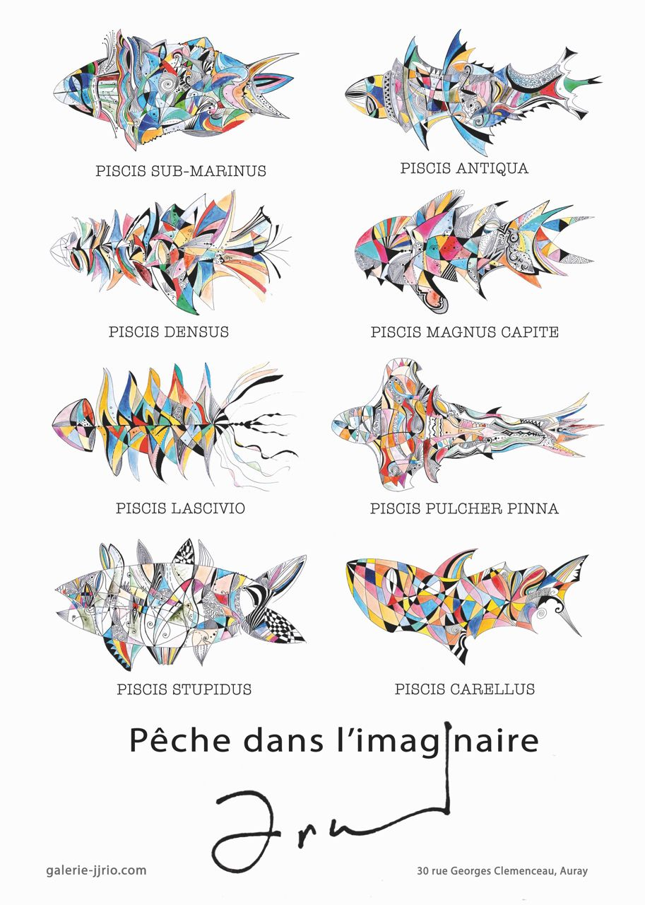 Arnaud Dromigny, Poster Affiche pêche imaginaire width=